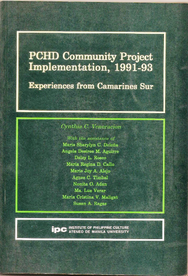 PCHD Community Project Implementation, 1991-93: Experiences