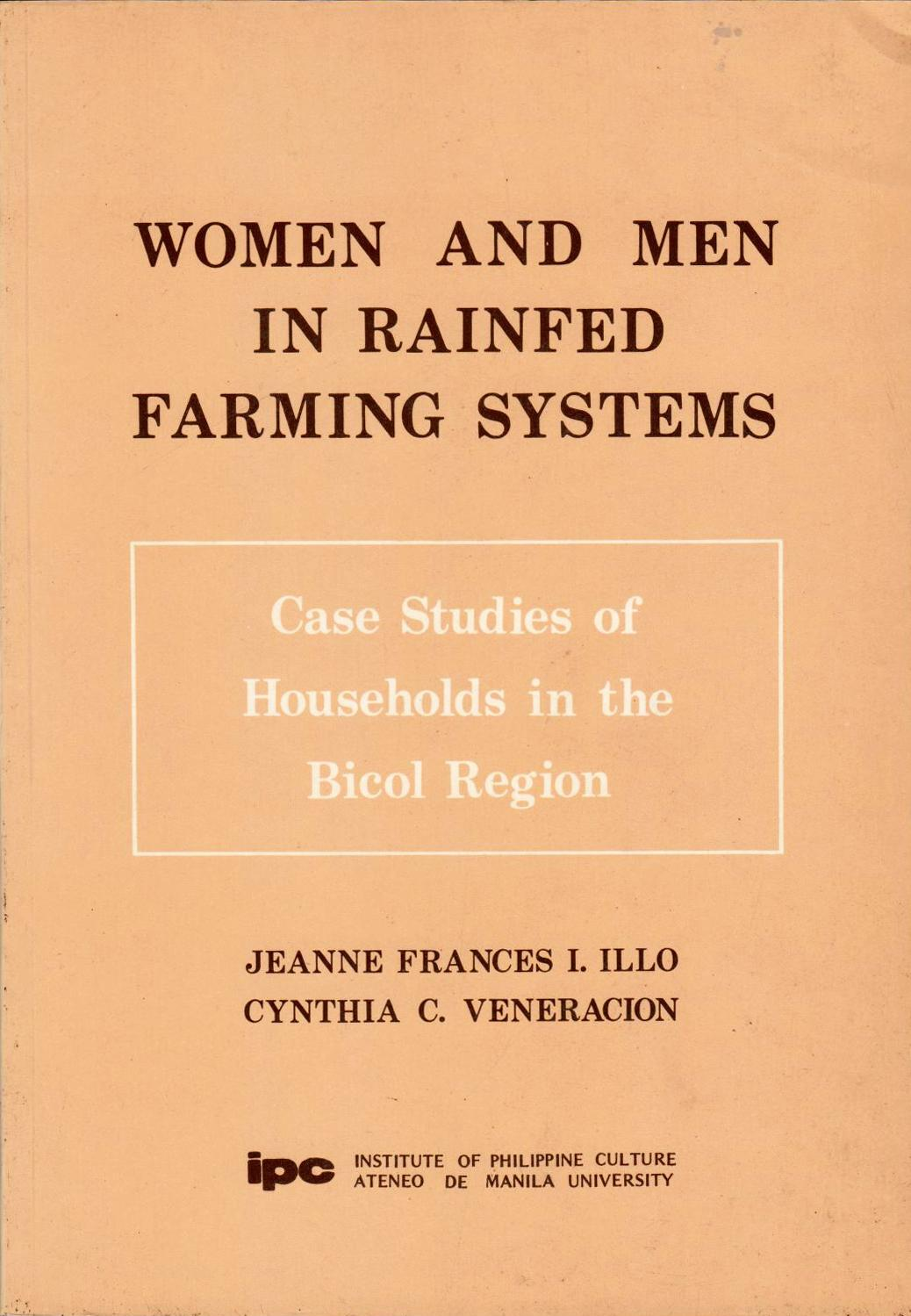 Women and Men in Rainfed Farming Systems: Case Studies of Households